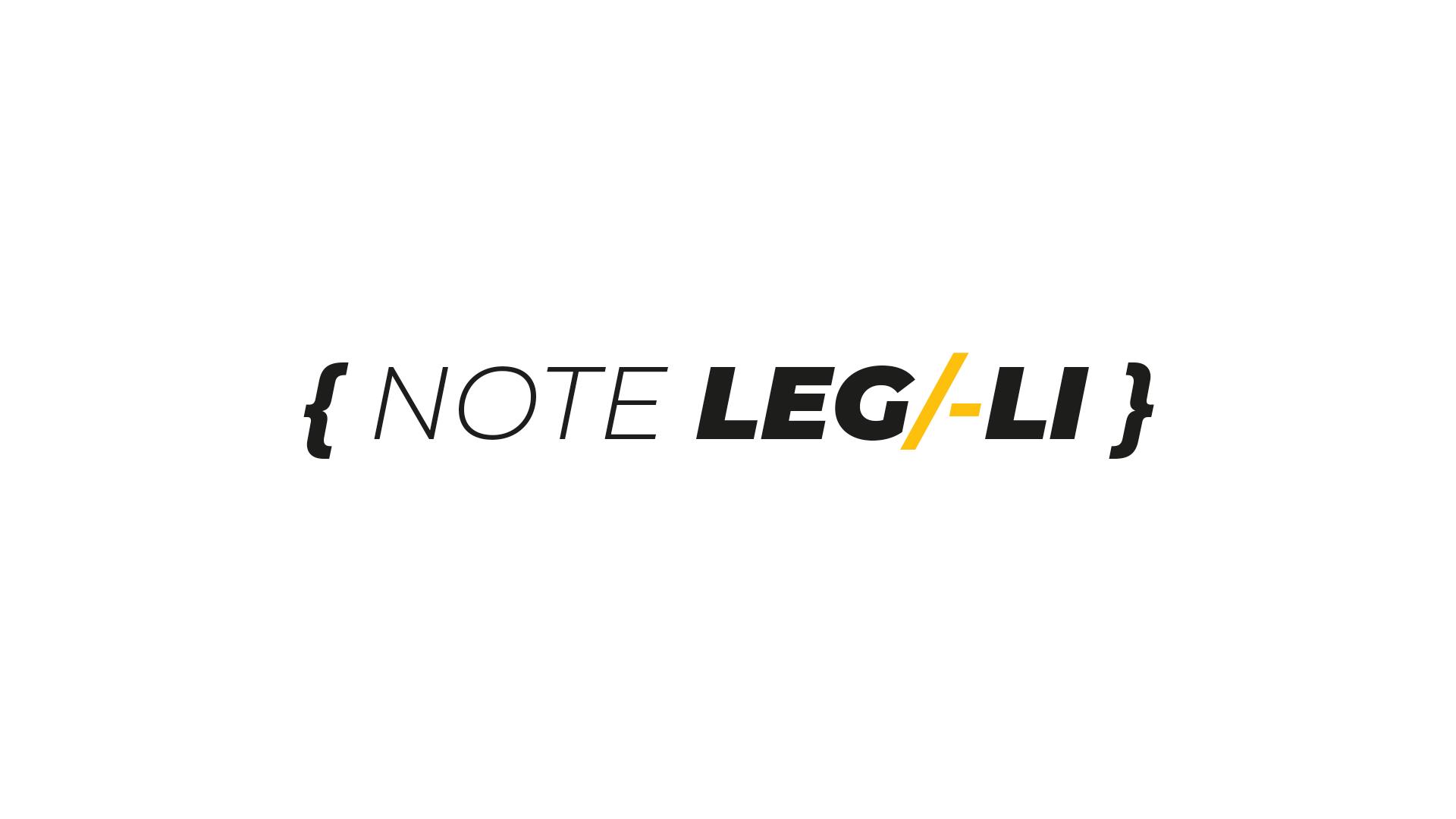 note legali